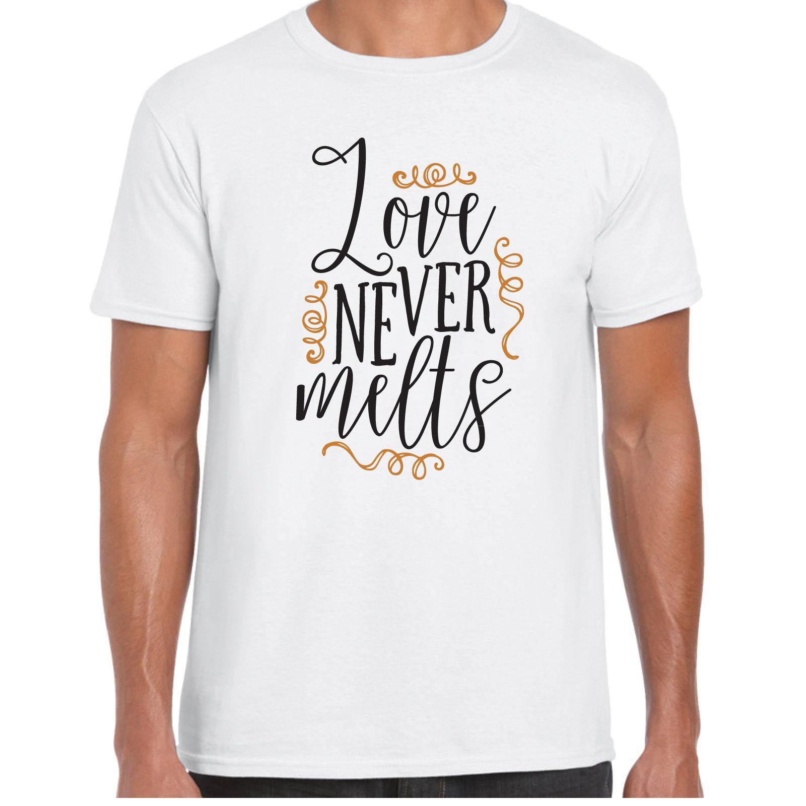 Compre El Amor Nunca Se Derrite Camisa Menst Regalo De Aniversario De  Cumpleaños De San Valentín A  11.56 Del Sportswearing  c59d7fd055350