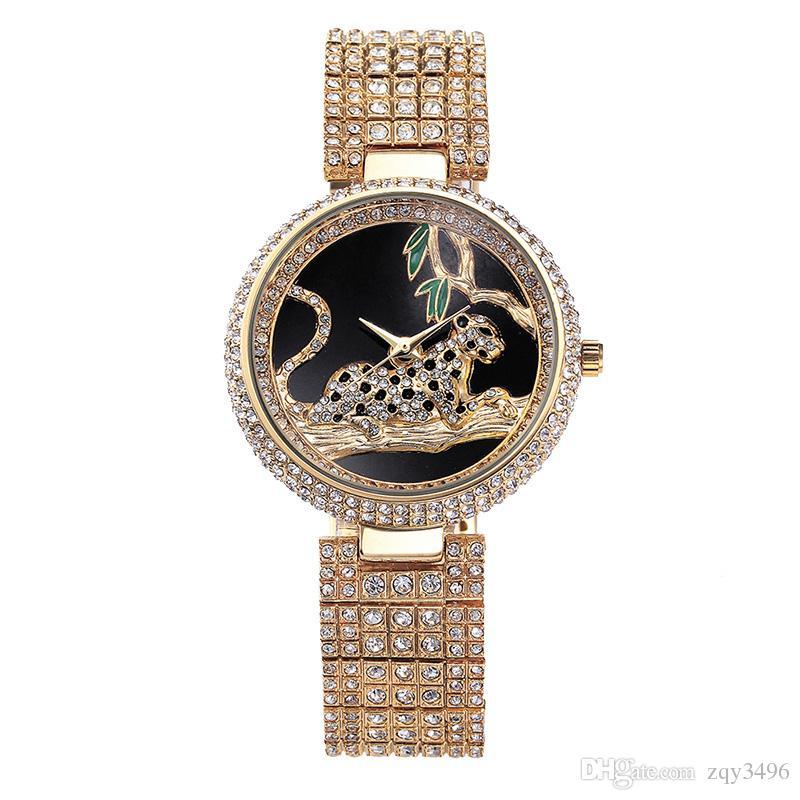 0a6866c584b9a7 Großhandel Luxus Uhr Frauen Strass Wasserdicht Bu Relogio Feminino ...