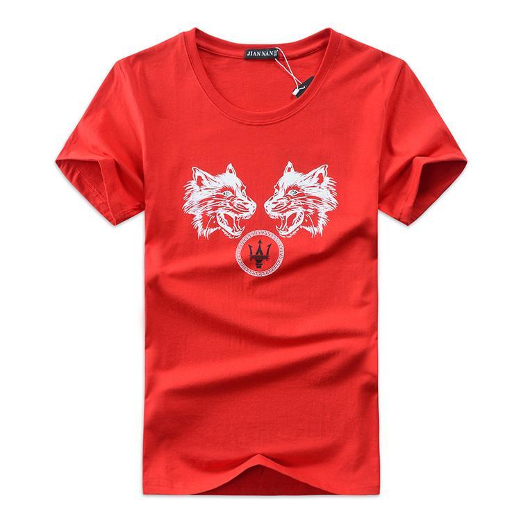 Mens T Shirts Fashion 2018 Summer Casual Patchwork printing Shirt Men Slim Fit Mens T-shirt Plus Size S-5XL