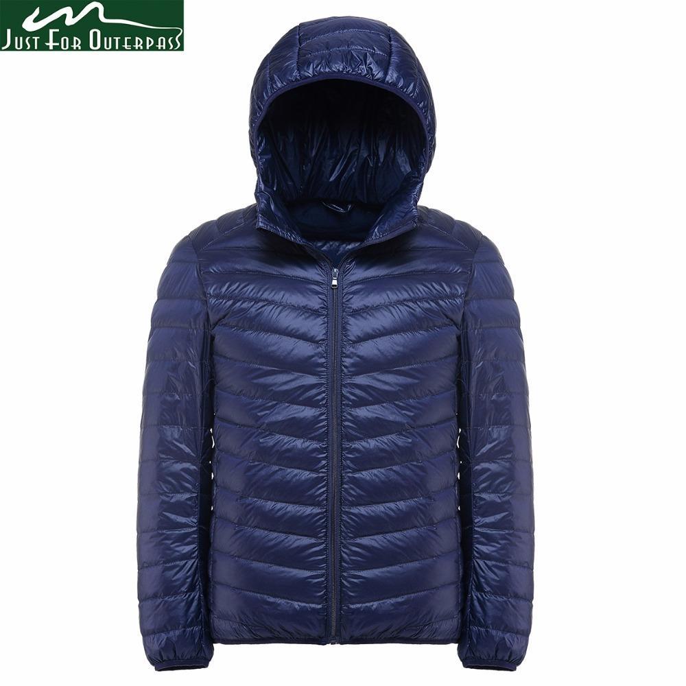 c9a7f0b6f62 2019 2017 New Casual Brand White Duck Down Jacket Men Autumn Winter ...