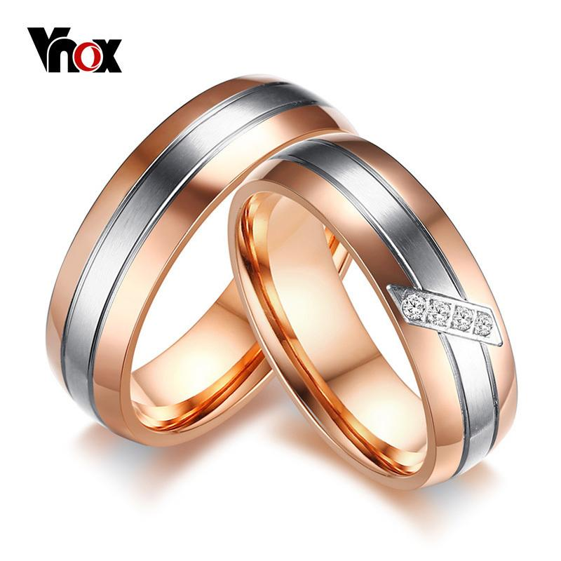 Grosshandel Ganzer Verkaufvnox Lovers Verlobungsring Rose Gold Farbe