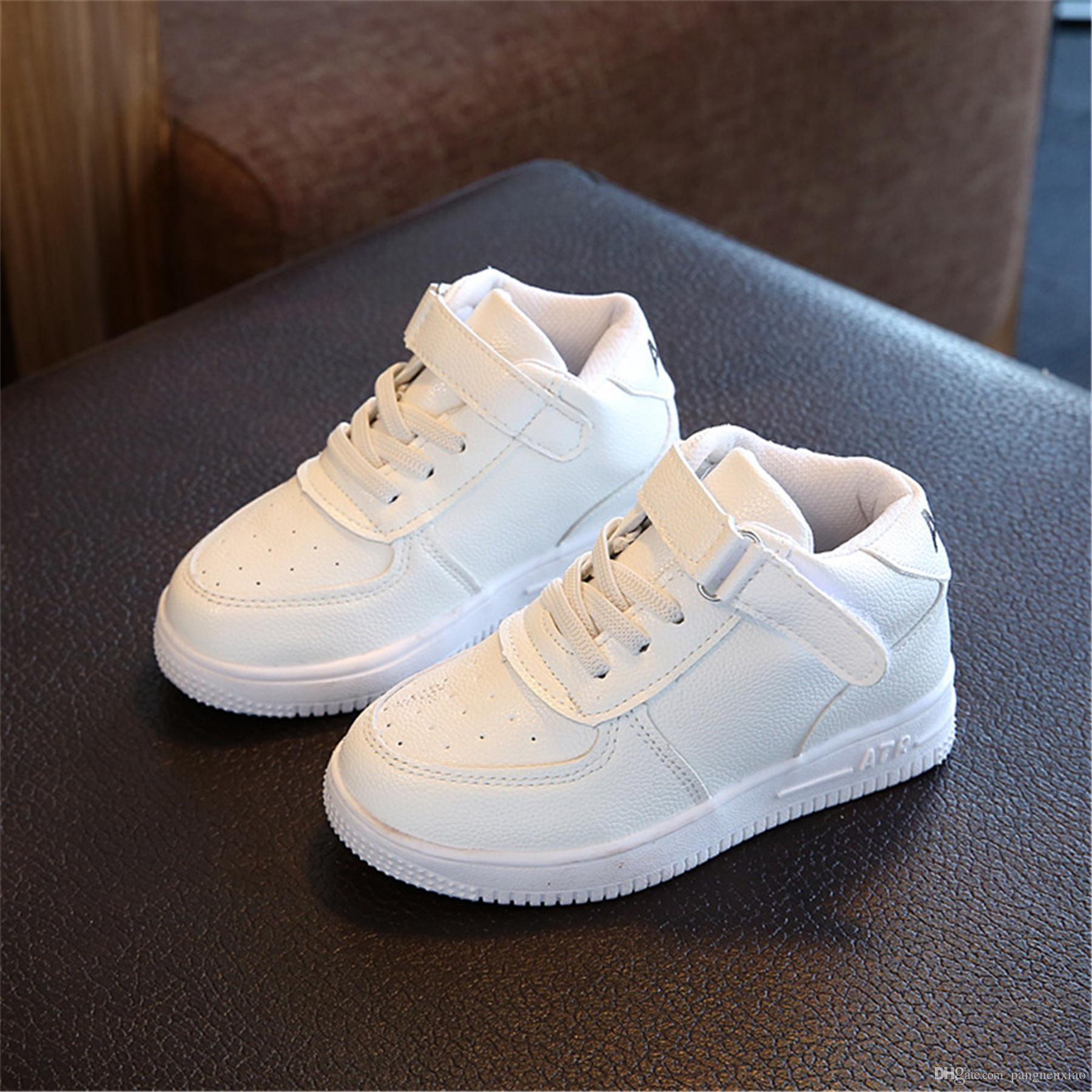 a40f4c6d2ad Chaussure Garcon Enfant Children S Shoes Kids Shoes Spring 2018 For Girls  Sneakers Boys Waterproof Leather Basketball Shoes Sports Running Best  Running ...