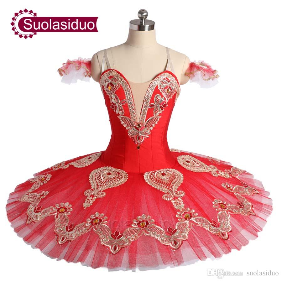 f4d60ff78410 2019 Women Red Classical Ballet Tutu The Nutcracker Perfromance Stage Wear  Adult Ballet Dance Competition Costumes Girls Ballet Skirt Apperal From ...