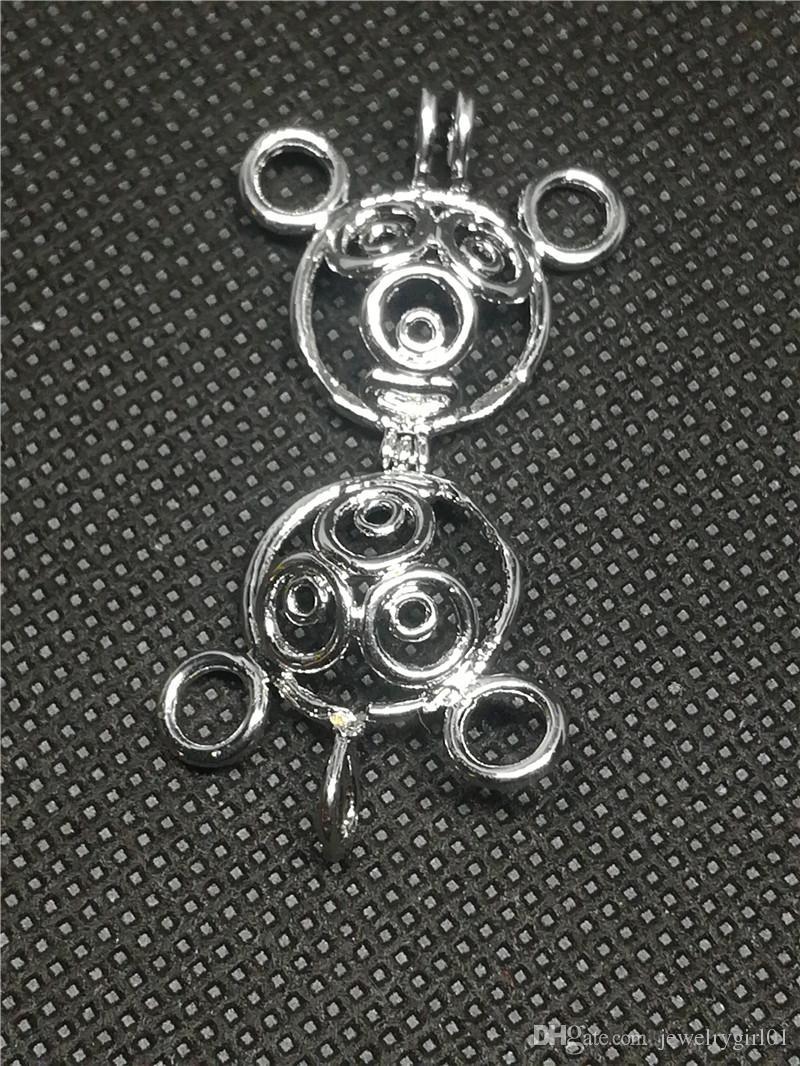Las jaulas del Locket de la estrella 18KGP, pueden sostener el colgante de la jaula de la gota de la gema de la perla, joyería de la manera de DIY que hace el montaje P32