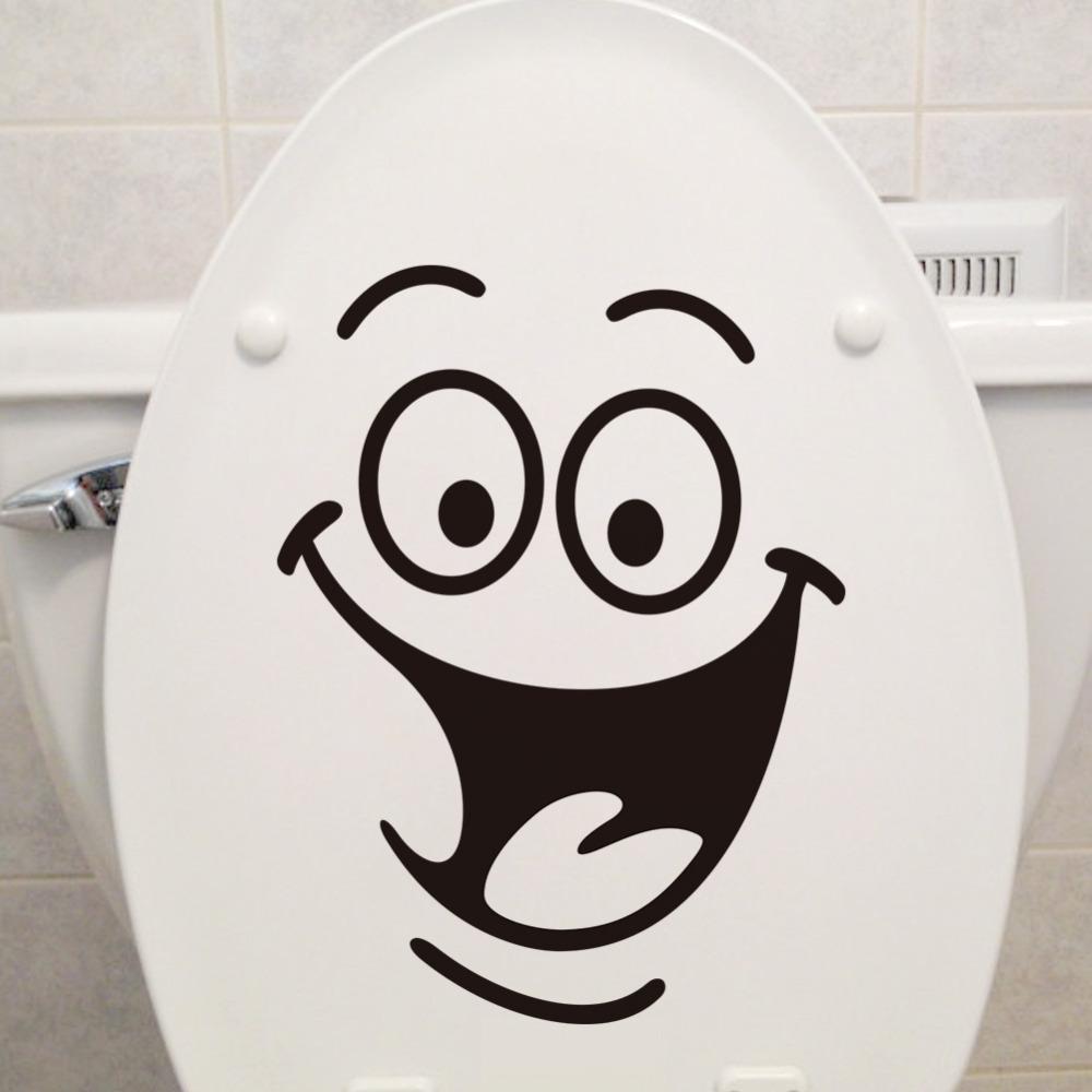 Grosshandel Ecorative Wandtattoo Smile Gesicht Wc Aufkleber Diy