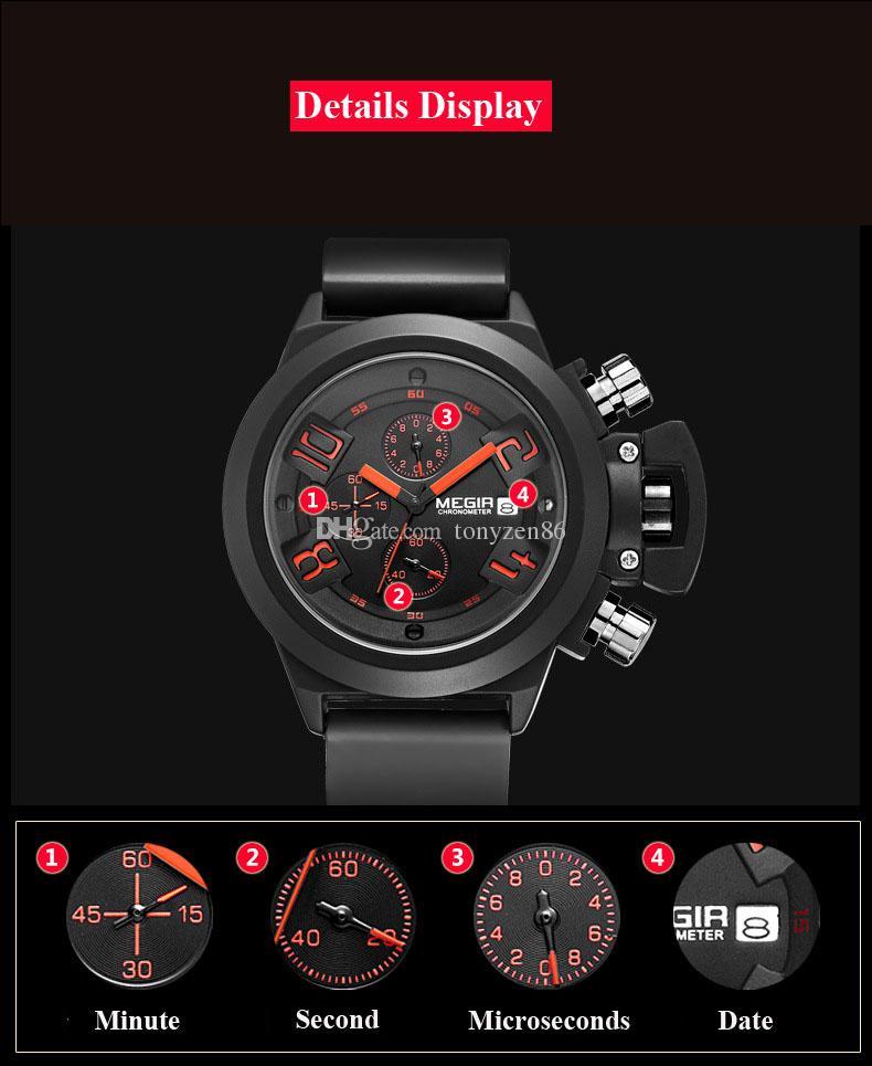 Nuovi uomini di orologi Megir marchio Mens Orologi automatici orologi skyfall uomini orologio da polso self-watch guardare uomini migliori scegliere
