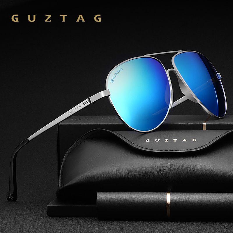 7aebe2bbc7 GUZTAG Brand Unisex Classic Men Aluminum Oversize Sunglasses HD Polarized  UV400 Mirror Male Sun Glasses Women For Men G8005 Custom Sunglasses Heart  Shaped ...