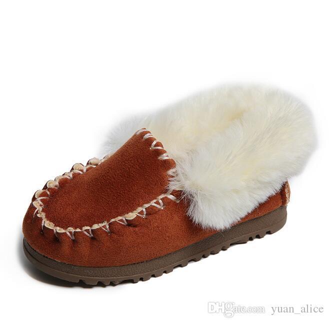 the best attitude 41f8e a2bc4 Nuove scarpe invernali da neve per bambini Stivali da bambina Scarpe da  bambina ragazza Pelliccia Stivali in gomma per bambini Scarpe in pelle per  ...