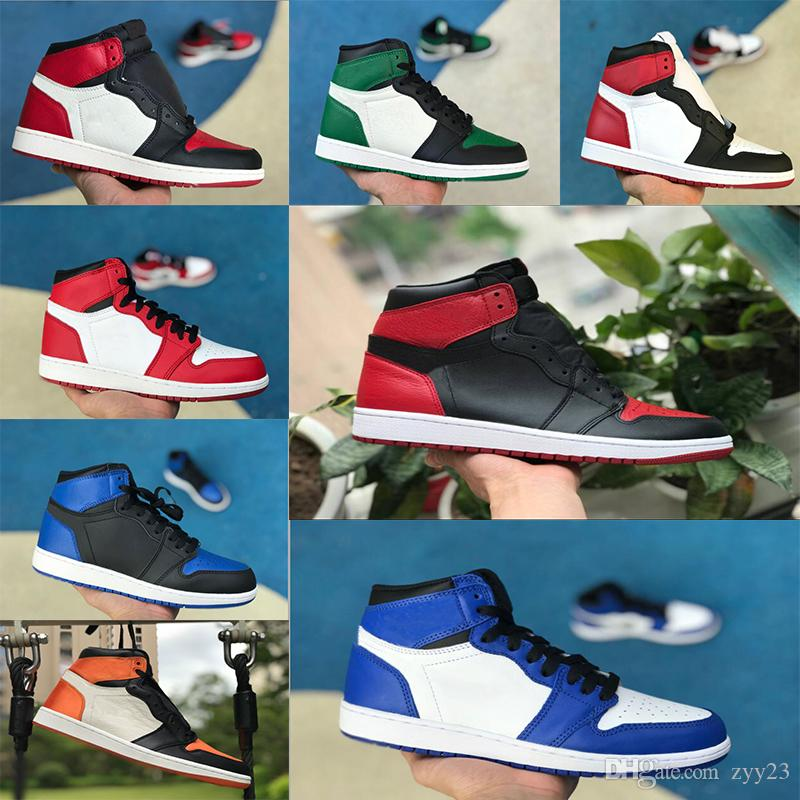 1s classic 1 Banned Basketball Shoes top 3 gold shadow Chicago bred royal shattered backboard bred black toe women men sneakers