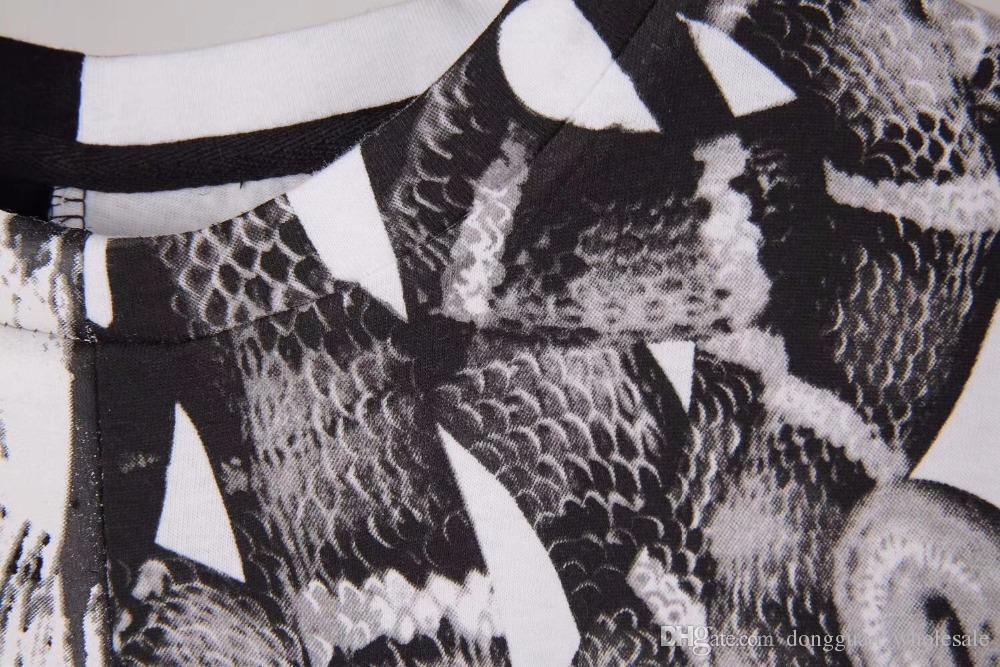 2018 Marque Meilleure Qualité 1a: 1 Marcelo Burlon T-shirt Hommes Femmes 3D Wings Imprimé Serpent T-shirt D'été HIP HOP MB T-shirt T-shirt S-XXL