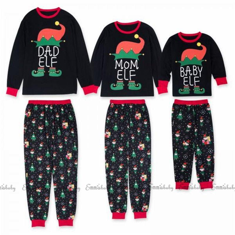 New Family Matching Women Kids Christmas Pyjamas Xmas Nightwear Pajamas PJs  Sets Winter Autumn Spring Long Sleeve Cotton 0 13Y Matching Hawaiian Clothes  For ... b81d3fc01