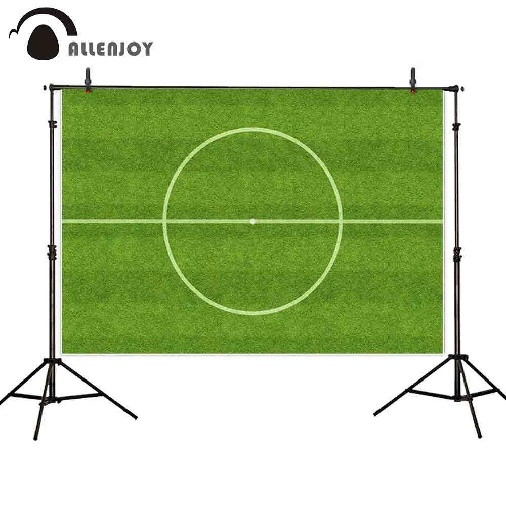 2018 wholesale sports backdrop photophone soccer circle field green