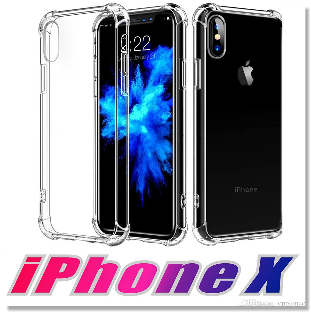 sale retailer eacd7 9dfd0 High Quality Cases For 2018 NEW iphone X XR XS MAX Case Crystal Clear  Reinforced Corners TPU Bumper Cushion Anti-scratch Hybrid Rugged