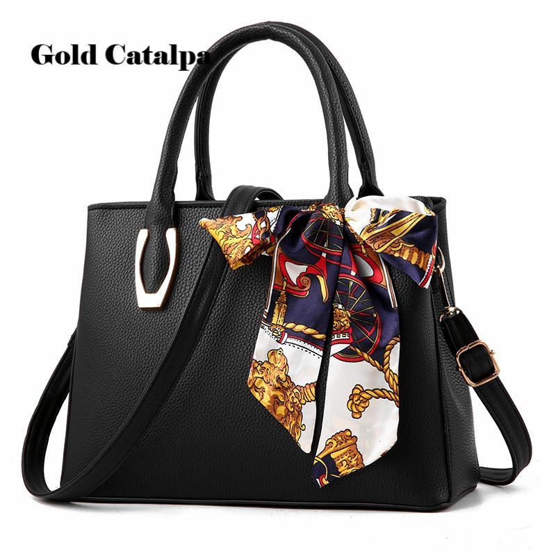 b756eda6d07 Women PU Leather Nice Scarf Handbags Famous Brands Handbag Purse Messenger  Bags Shoulder Bag Handbags Pouch High Quality Fashion Bags Leather Bags For  Women ...