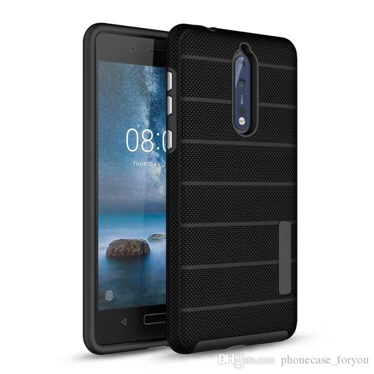 لحالة Play Moto G7 P30 Note play ، حافظة صلبة Power E5 G6 Plus ، حافظة صلبة Hybrid Hard + TPU من الخلف