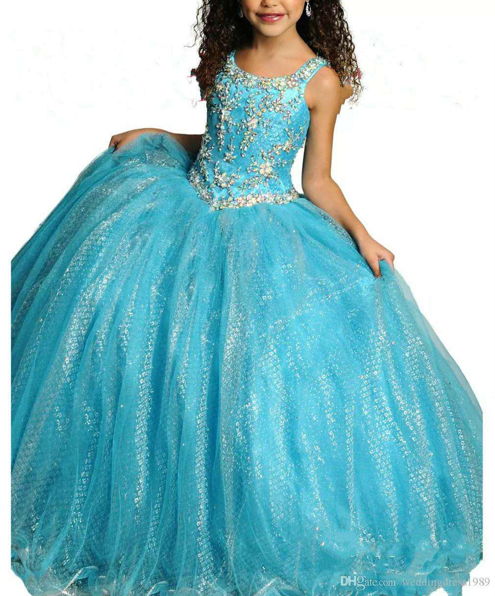 Bling Children Ball Gown Little Girls Pageant Dresses Sequined ...