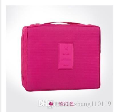New Travel Wash pouch Make Up Bag Women Cosmetic Bag Wash Bag Cosmetic Case Nylon Zipper Multifunctional Waterproof Makeup Case