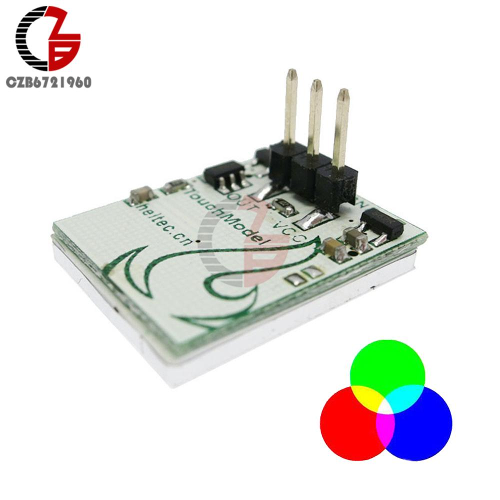 2018 Capacitive Touch Switch Button Rgb Led Sensor Module Circuit Httm Diy Electronic Board Multi Color Anti Interference 3v 5v 6v From Samanthe