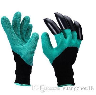 2018 Garden Genie Handschuhe mit 4 eingebauten Krallen OPP BAG Einfache Möglichkeit zum Gartengraben Pflanzhandschuhe wasserdicht, dornenbeständig gua
