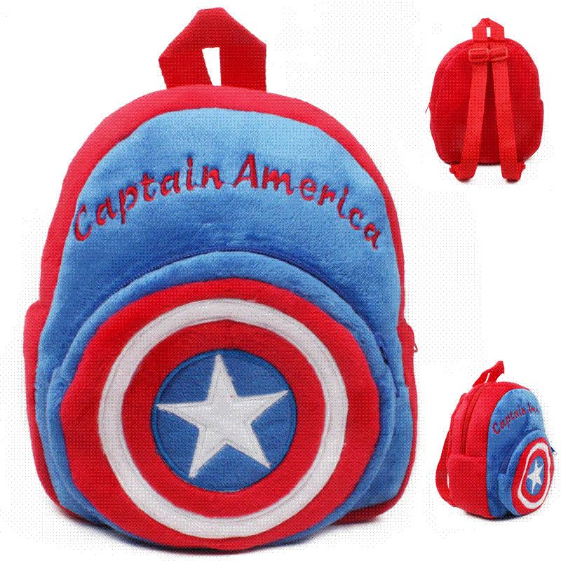 b9ddf15d5f Hot Plush Backpack Cartoon The Avengers Plush Toy Backpack Superman  Spiderman Batman Captain America Boy Bag For Kids Schoolbag Wheeled  Backpacks Leather ...