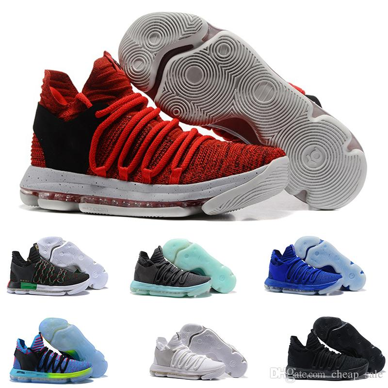 reputable site 67a99 28460 Hot Sale Zoom KD 10 Anniversary PE BHM Oreo triple black Men Basketball  Shoes KD 10 Elite Low Kevin Durant Athletic Sport Sneaker Shoes