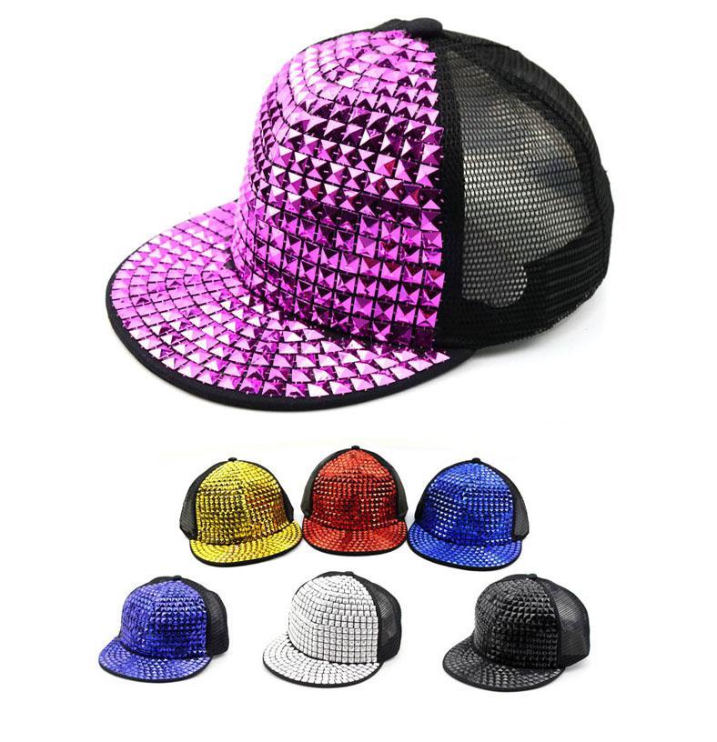 Kids Snapback Caps Children Mesh Ball Cap Adjustable Girls Boys Gold Spikes  Hiphop Cap Summer Hat Hat Stores Custom Trucker Hats From Shunhuico a616ecc32c8d