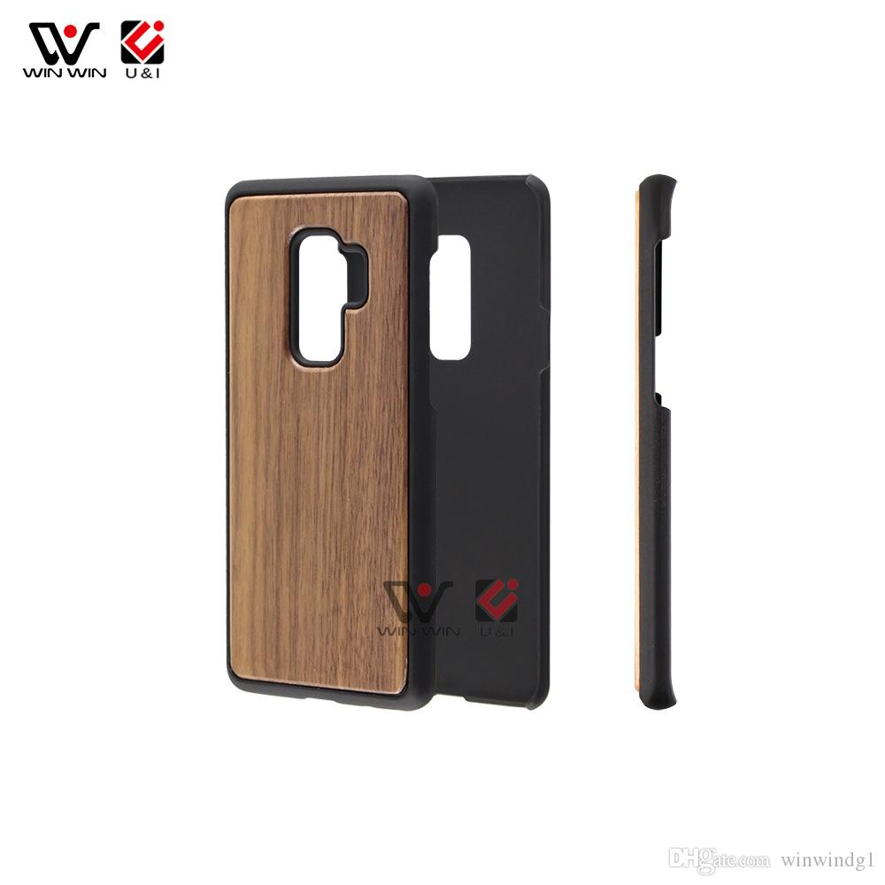 huge inventory 332a8 fd1ca For Samsung Galaxy S9 S9plus Plain Blank Wood Cell Phone Case Material  Mobile Phones Back Cover Newest Design For Samsung