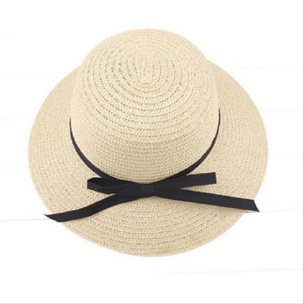 Fashion Summer Hat For Women Wide Brim Beach Sun Headdress Straw