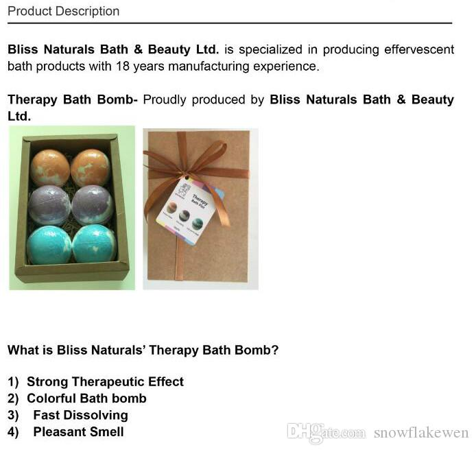 Top qualty 540G/box Bath Bombs Natural Ingredient essential oil strong therapeutic effect colorful bath bomb fast dissolving pleasant smell