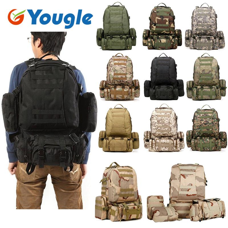 31bd64ed47ab 2019 YOUGLE 50L 7 12 Molle Tactical Outdoor Assault Military Rucksacks  Backpack Camping Bag Climbing Bag New From Youglecn