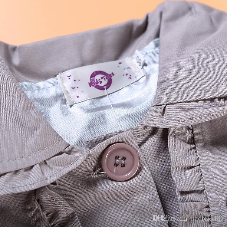 Mädchen Mäntel und Jacken Kinder Hoodies Herbst Marke Kinder für Mädchen Kleidung Cartoon Print Oberbekleidung Mit Kapuze Mädchen Trenchcoat