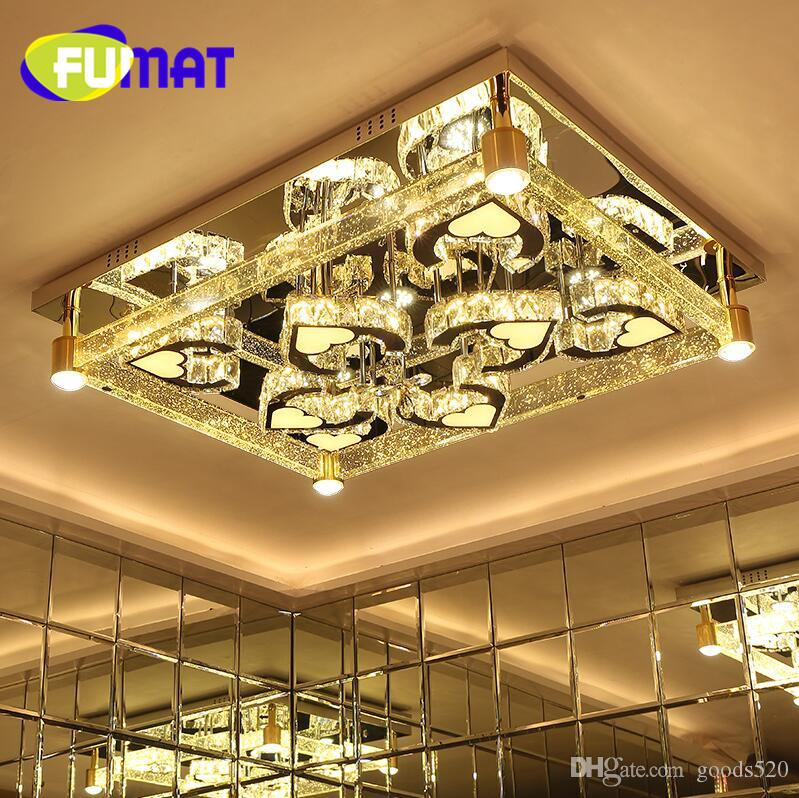 Led living room lamps rectangle crystal lighting modern brief ceiling light high quality luxury air bubble crystal column lamp