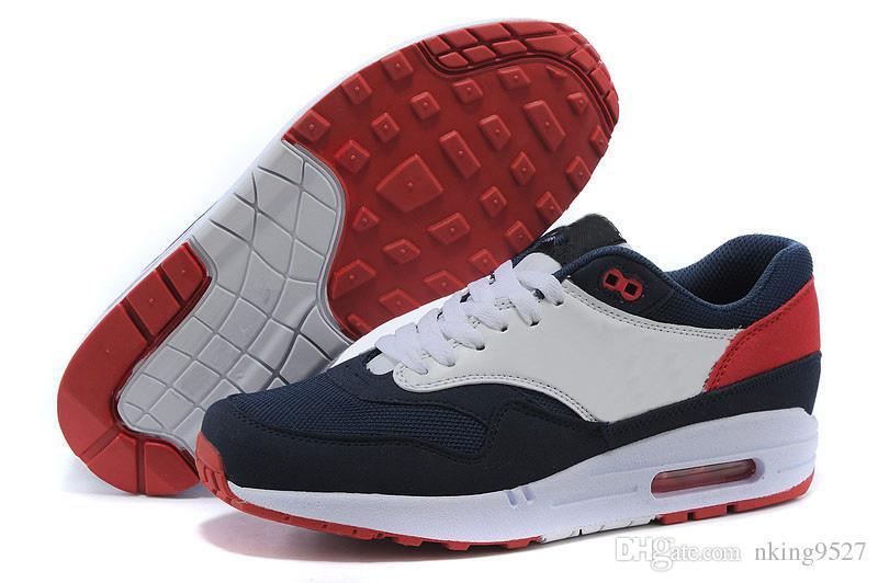 online store 1e8fb 51895 Großhandel Nike Air Max Airmax 87 90 2018 Neue 87 Ultra Casual Luxus Schuhe  Für Gute Qualität 87s Weiß Blau Rot Grau Schwarz Männer Frauen Im Freien ...