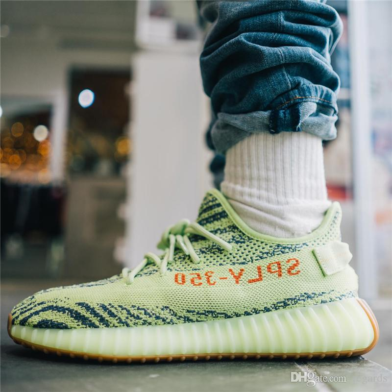quality design 1d2e5 9bbc7 Boot 350 V2 Semi Frozen Yellow B37572 Blue Tint Grey AH2203 Beluga 2.0 Grey  Bold New Color Kanye West Running Shoes With Box Basketball Shoes Men Shoes  ...