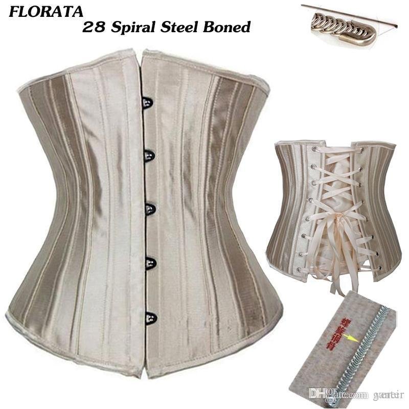 859fe42e22 2019 Wholesale FLORATA USPS Dropship Steel Boned Floral Tight Underbust  Waist Corsets TOP Cincher Bustiers Lingerie Lace Up Size S 6XL From Ganeir