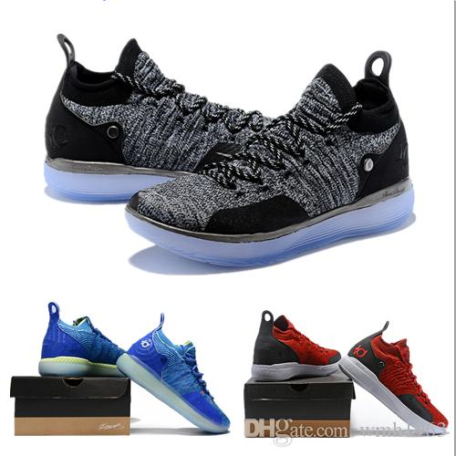 6156b6c14f52 2019 New KD XI 11 EP Oreo Blue Sports Basketball Shoes for Top ...