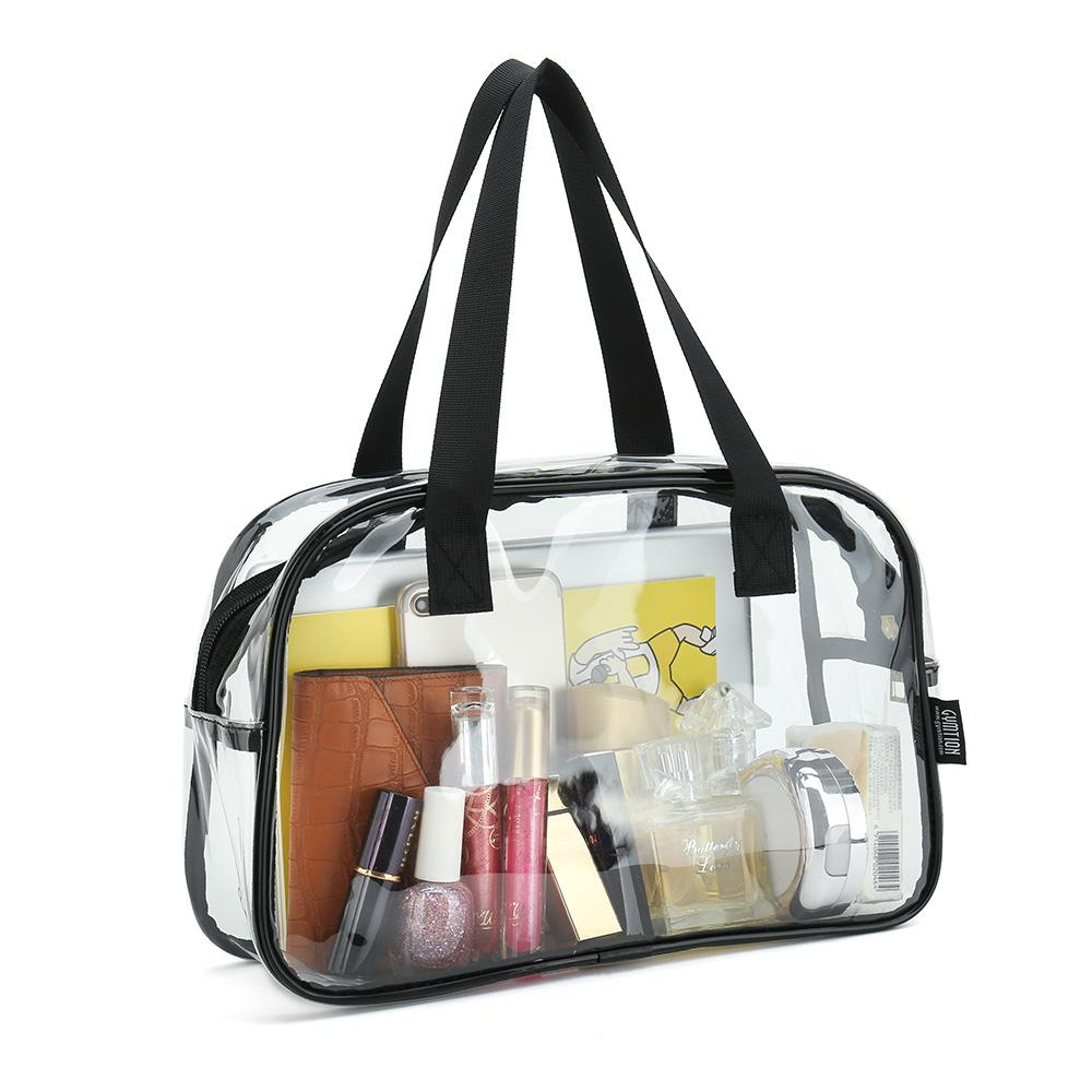 c7c45e945965 Clear PVC Makeup Toiletry Cosmetic Tote Bag Pouch Cosmetic Bag Size ...