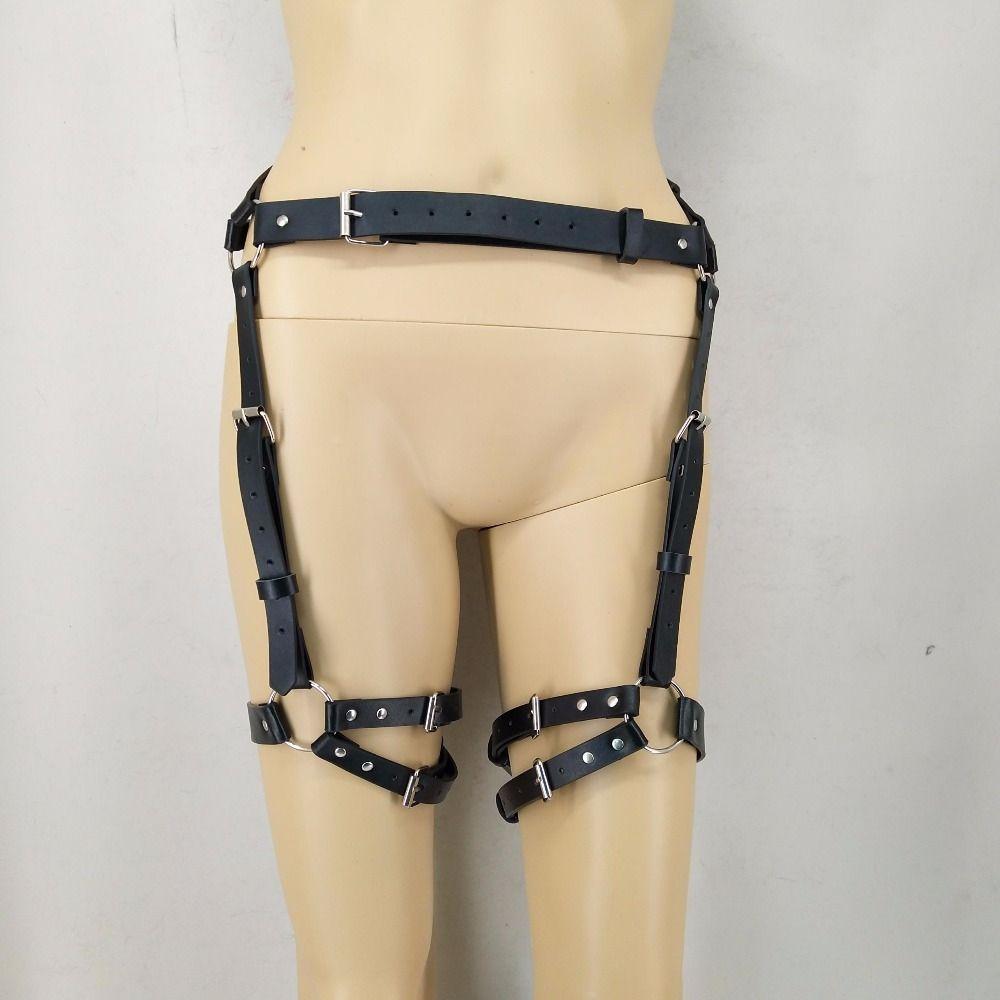 ea26c22ecc0 UYEE Gothic Punk Leather Leg Garters Blet Creative Harajuku Harness  Waistband BDSM Bondage Women Garters For Stocking LP 072 Conveyor Belts  Blue Belt From ...