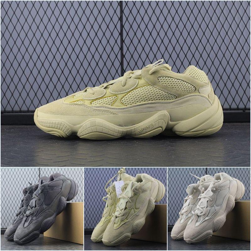 de67159af Acquista Adidas Supreme Yeezy Boost 500 2018 Vendita Calda 500 Blush Desert  Rat Kanye West 500 Wave Runner 500 Sneakers 700 350 Scarpe Da Corsa Scarpe  ...