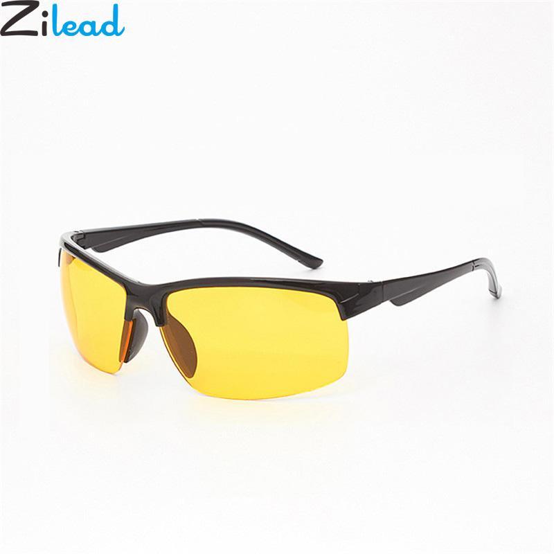 5e3730ae774b Zilead мужчины Polaroid солнцезащитные очки Марка желтый объектив вождение  ночного ...