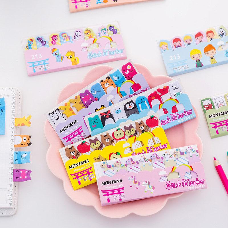 Memo Pads Korean Cute Kawaii Cartoon Animal Finger Unicorn Memo Pad Note Sticky Paper Stationery Cat Planner Sticker School Office Notebooks & Writing Pads