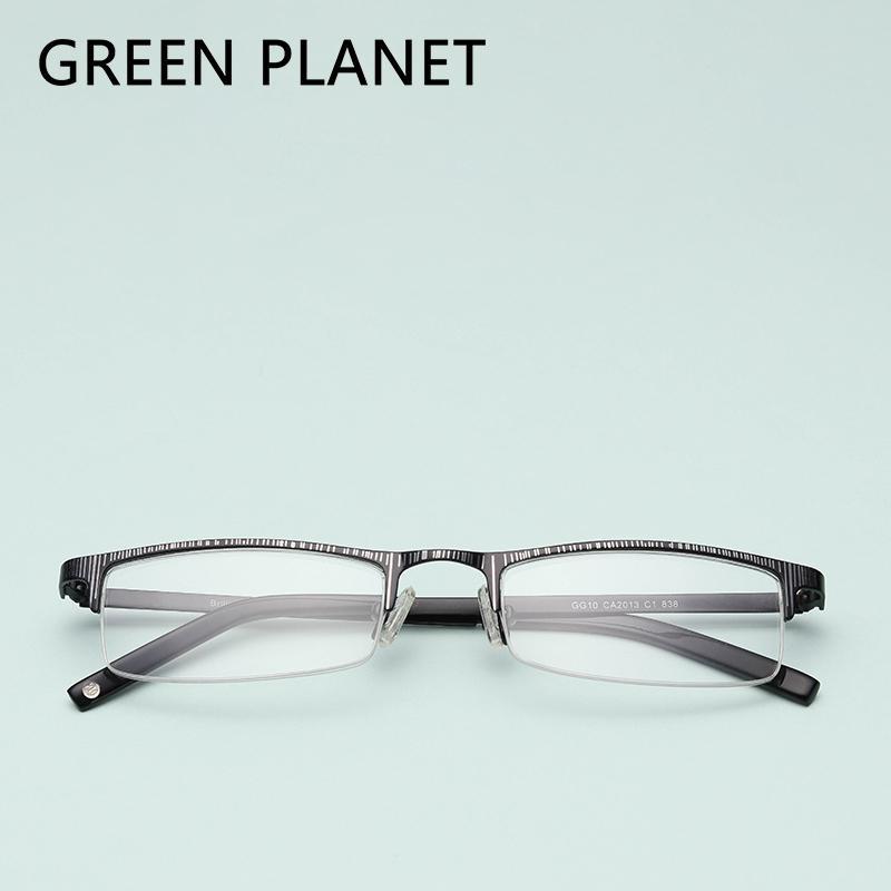 3a4db104c8 Metal Women Spectacles Frame Retro Half Rim Myopia Designer Brand ...