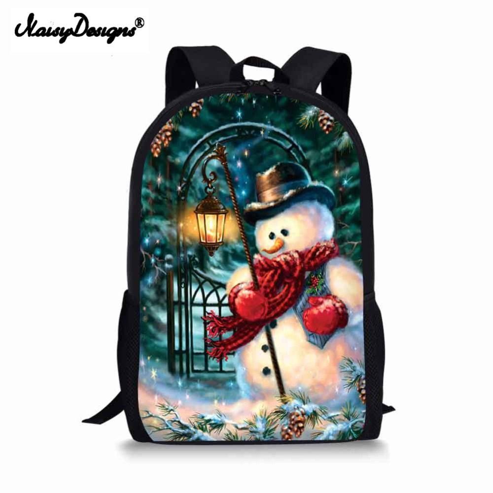 05cd5d94850f Fashion Christmas Boys Backpacks 3D Printed School Bags For Women Teenagers 16  Inch Shoulder Bag Rucksack Laptop Backpack School Backpacks Cool Backpacks  ...