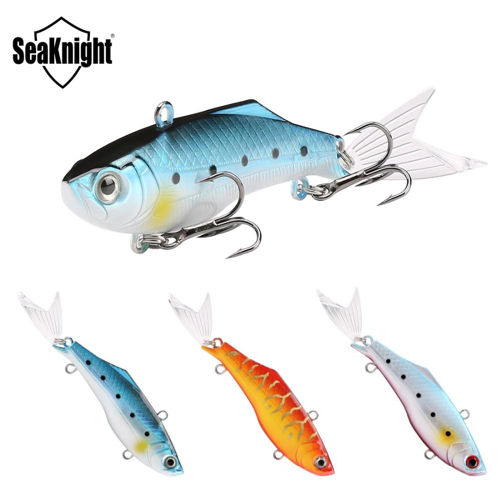 Brand Sinking VIB crankbaits 75mm 17 8g Freshwater River Fishing Vibration  lure Lifelike Artificial Bait with Fish tail