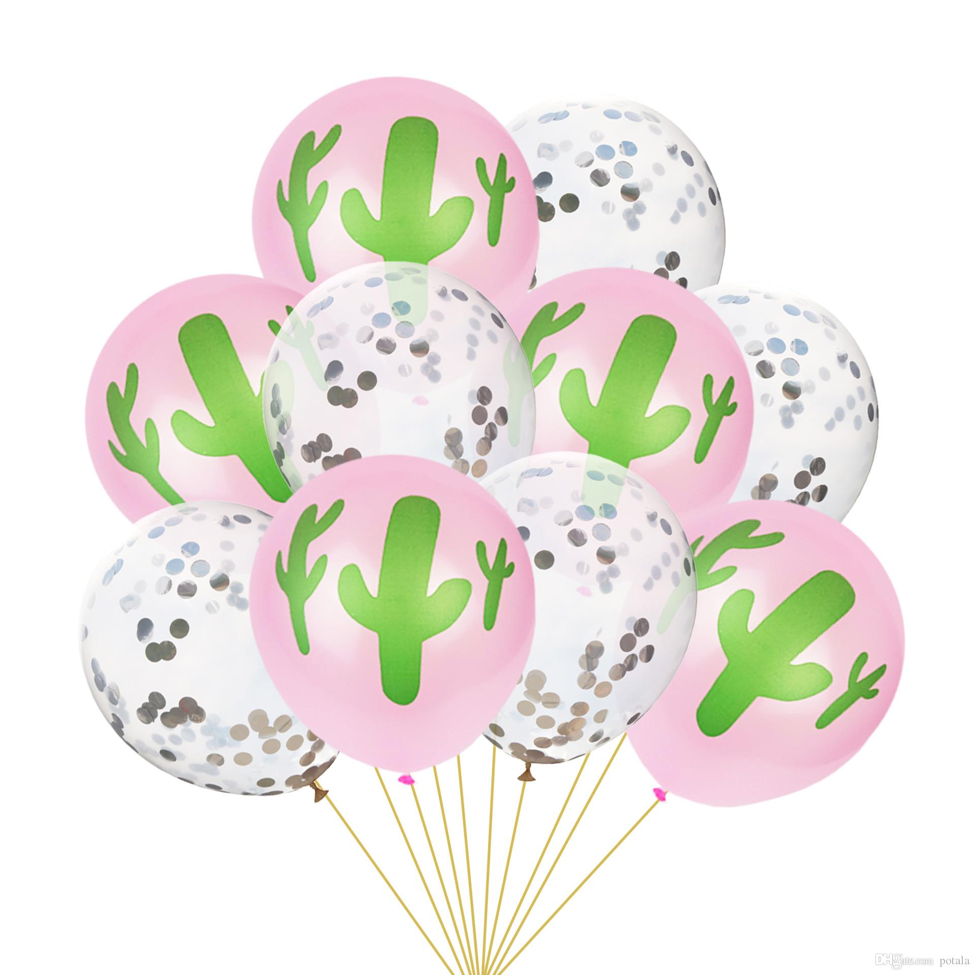 Großhandel 10inch Cactus Balloons12inch Transparente Luftballons