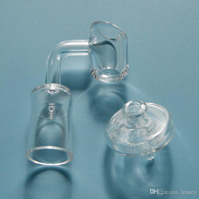 100% 4mm Quartz Banger With Glass Carb Cap 14mm 18mm Quantz Banger 90 Degree 45 Degree Thick Quartz Banger With 35mm Carb Caps