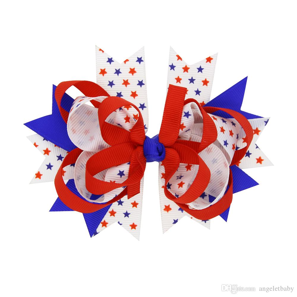 كليب النقاط الشعر الانحناء الأزرق الداكن الأحمر دبوس الشعر مرصوف بوتيك الاطفال الانحناء الشعر للبنات إكسسوارات الشعر HC098