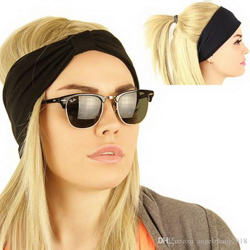 Fashion Cotton Headband Exercise Yoga Special Hair Band Turban ... c2c13fabc9