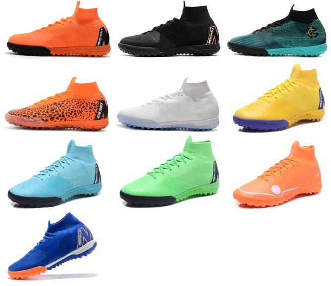 07172ae9f26 2018 New Mercurial Superfly Ronaldo Soccer Cleats VI 360 Elite TF 6 XII 12  CR7 Neymar Mens Women Boys Soccer Shoes Football Boots Cleats