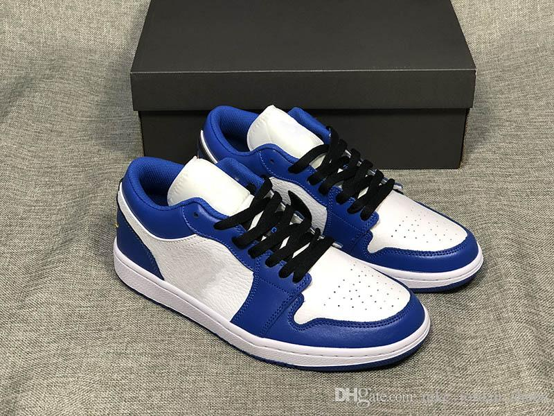 5f9b2b265398f0 2019 1 Low Hyper Royal New Men Basketball Shoes Low Top White Orange Peel  Color Scheme Womens Mens Designer Trainer With Box From Nike jordan shoes